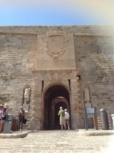 the fortress gates at Dalt Vila