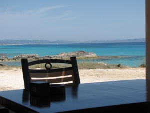 the view in Formentera